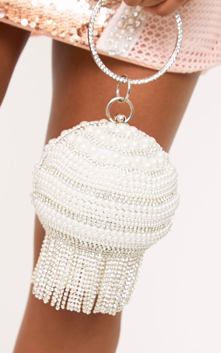 Pearl Embellished Spherical Bag 2