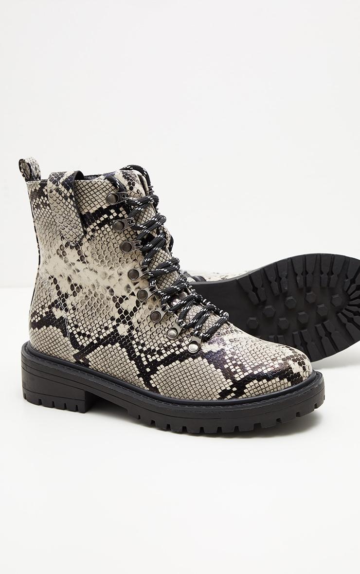 Snake Croc Hiker Boot  3