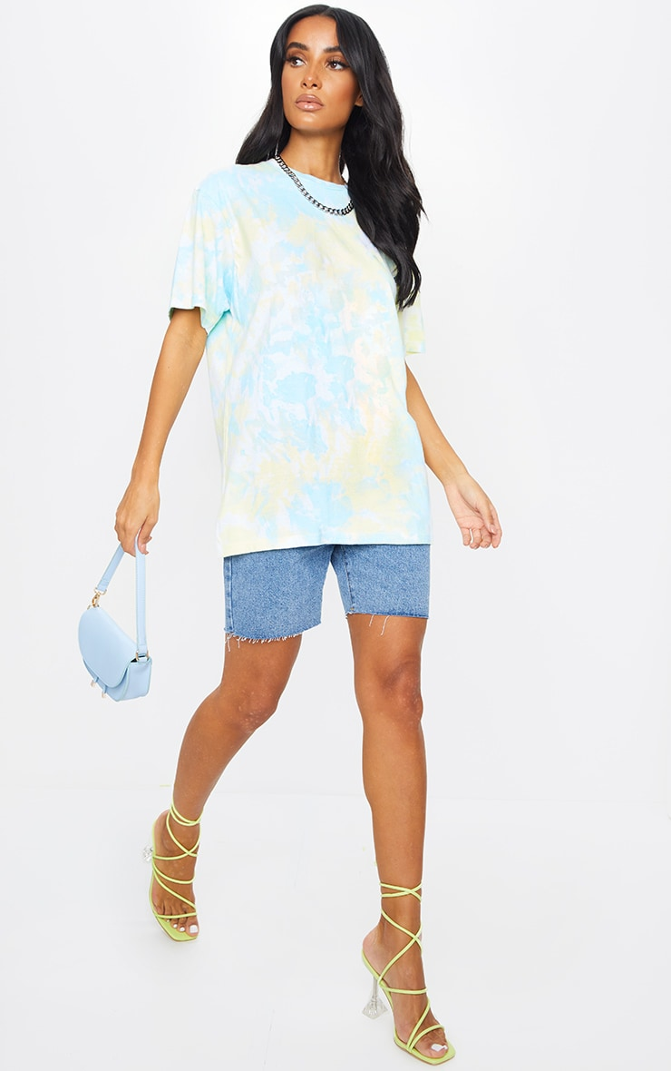 Multi Printed Tie Dye Boyfriend Fit T Shirt 3