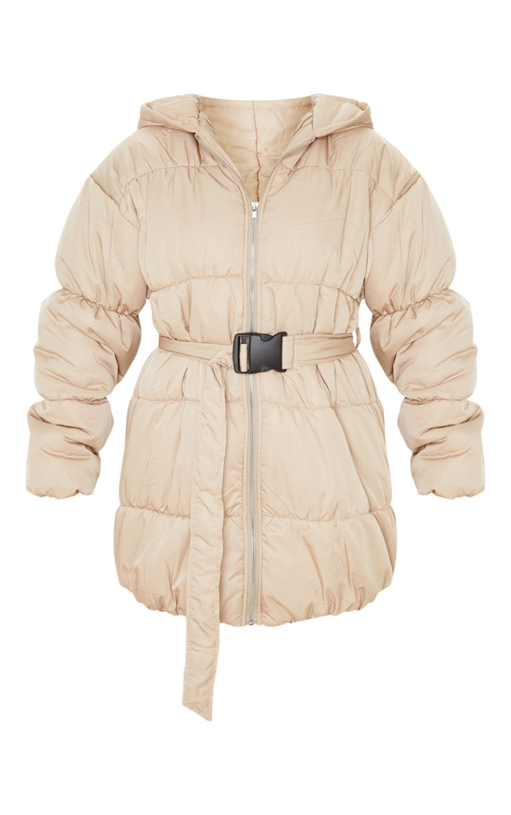 Stone Belted Puffer Jacket 3