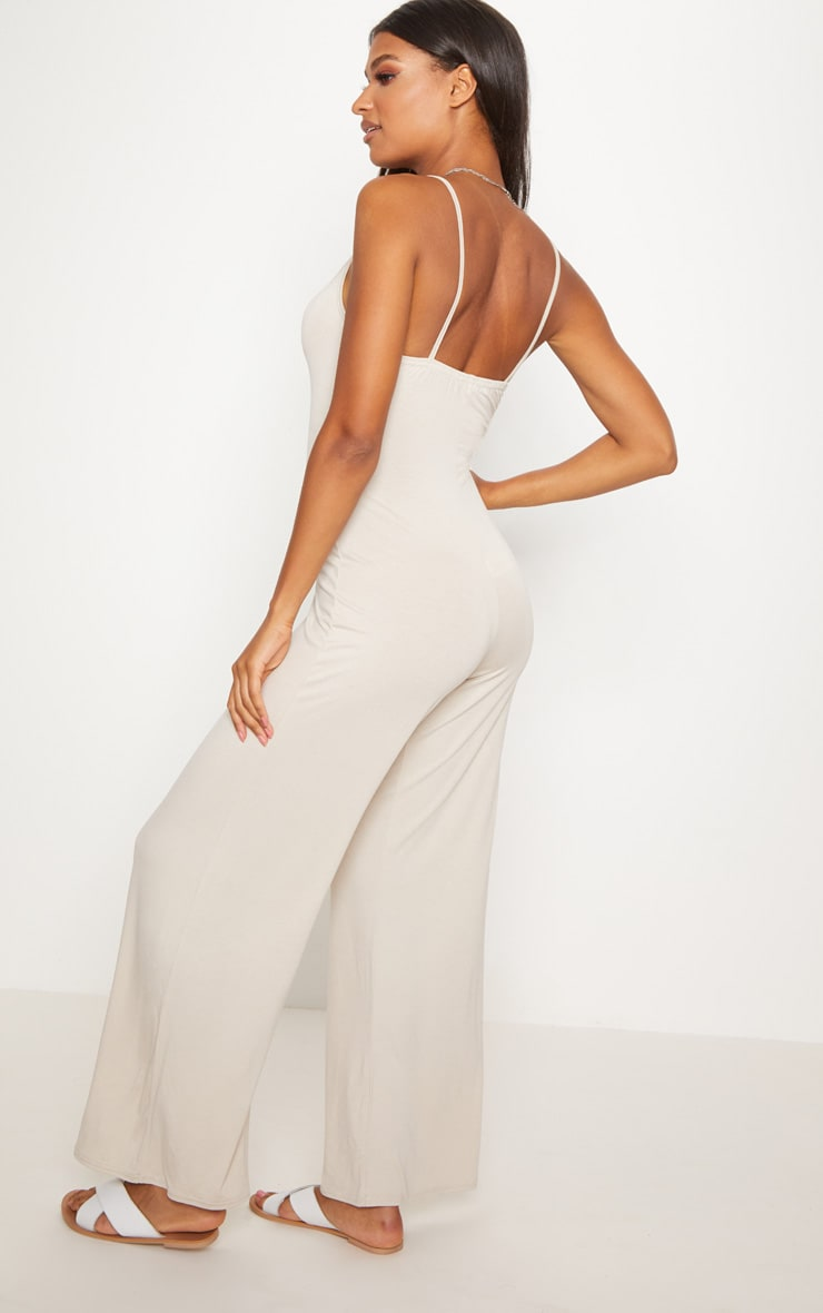 Stone Jersey Over Sized Slouchy Jumpsuit 2