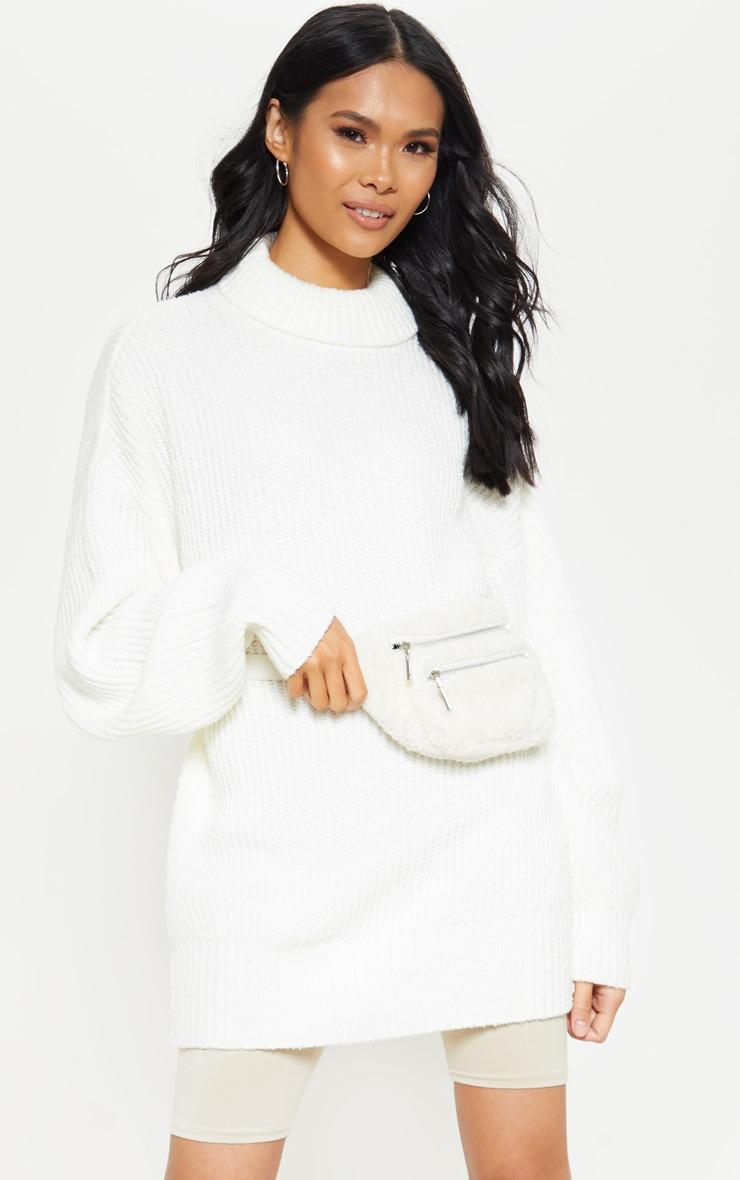 Cream Oversized Boucle Knit Jumper  4