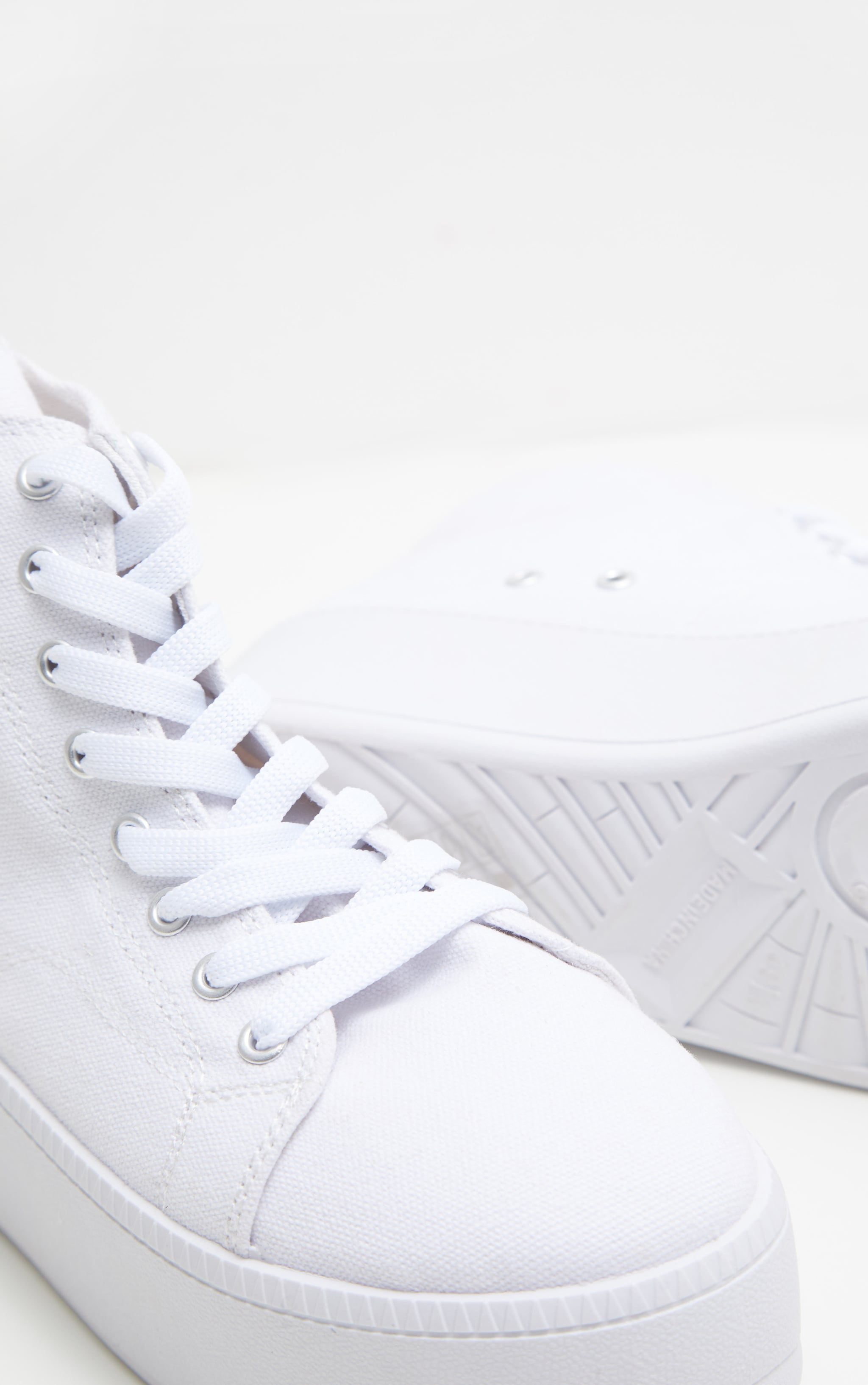 White Flatform High Top Sneakers 4