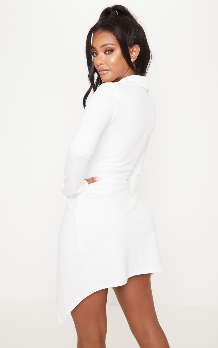 Shape White Blazer Dress 2