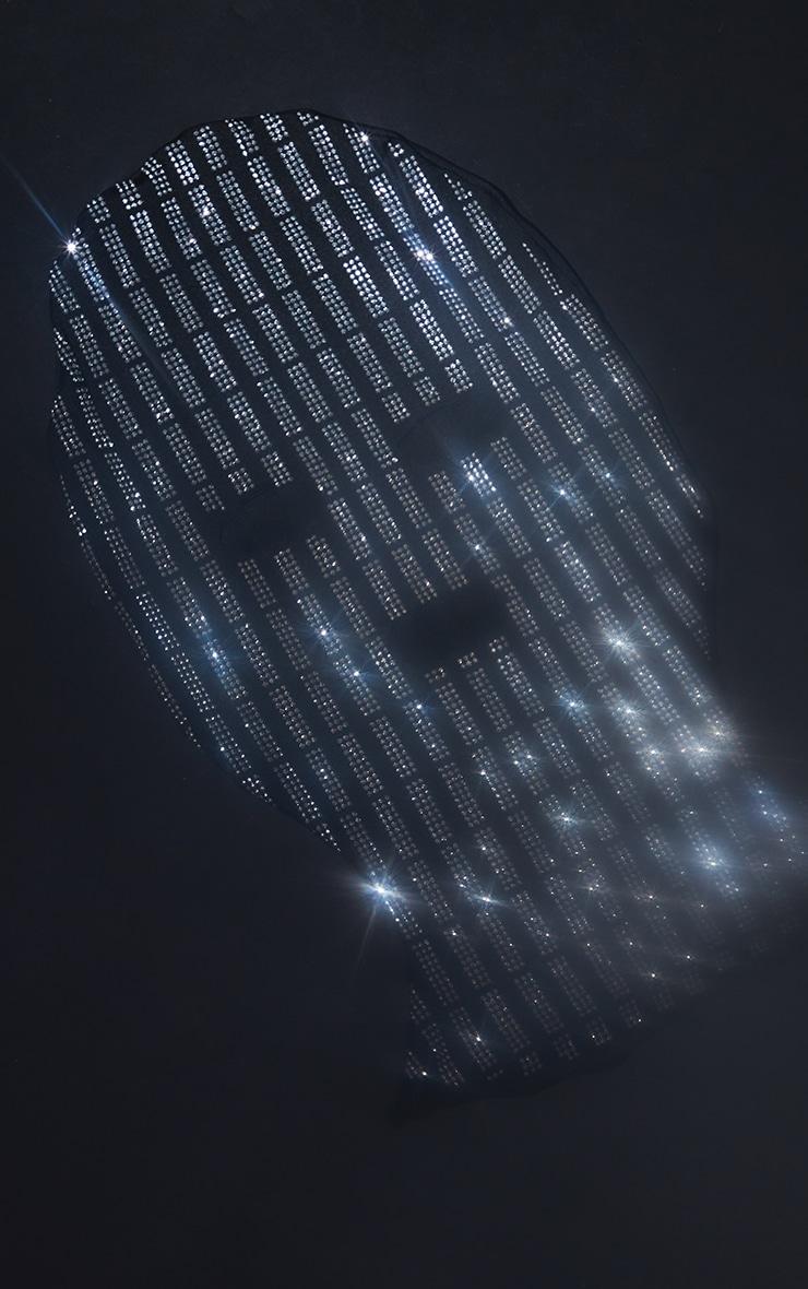 Black All Over Diamante Face Mask 2