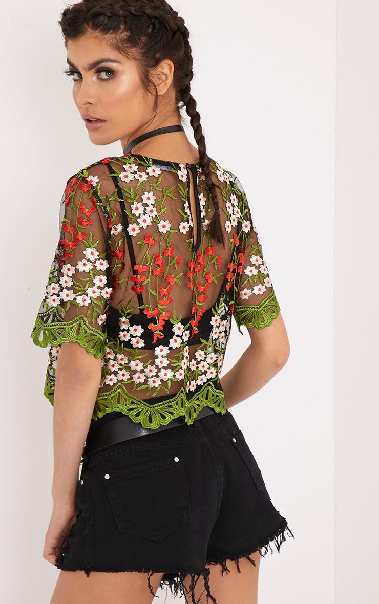 Loren Black Embroidered Top 2