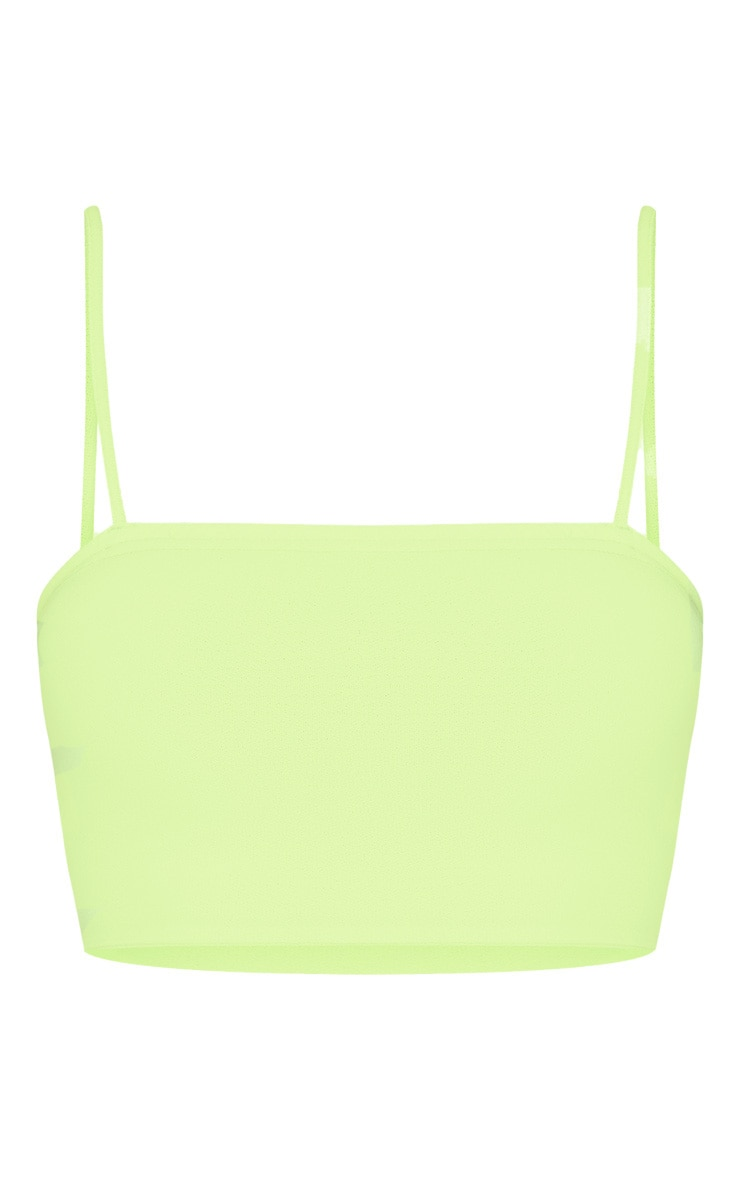 Shape Neon Yellow Strappy Crop Top 3