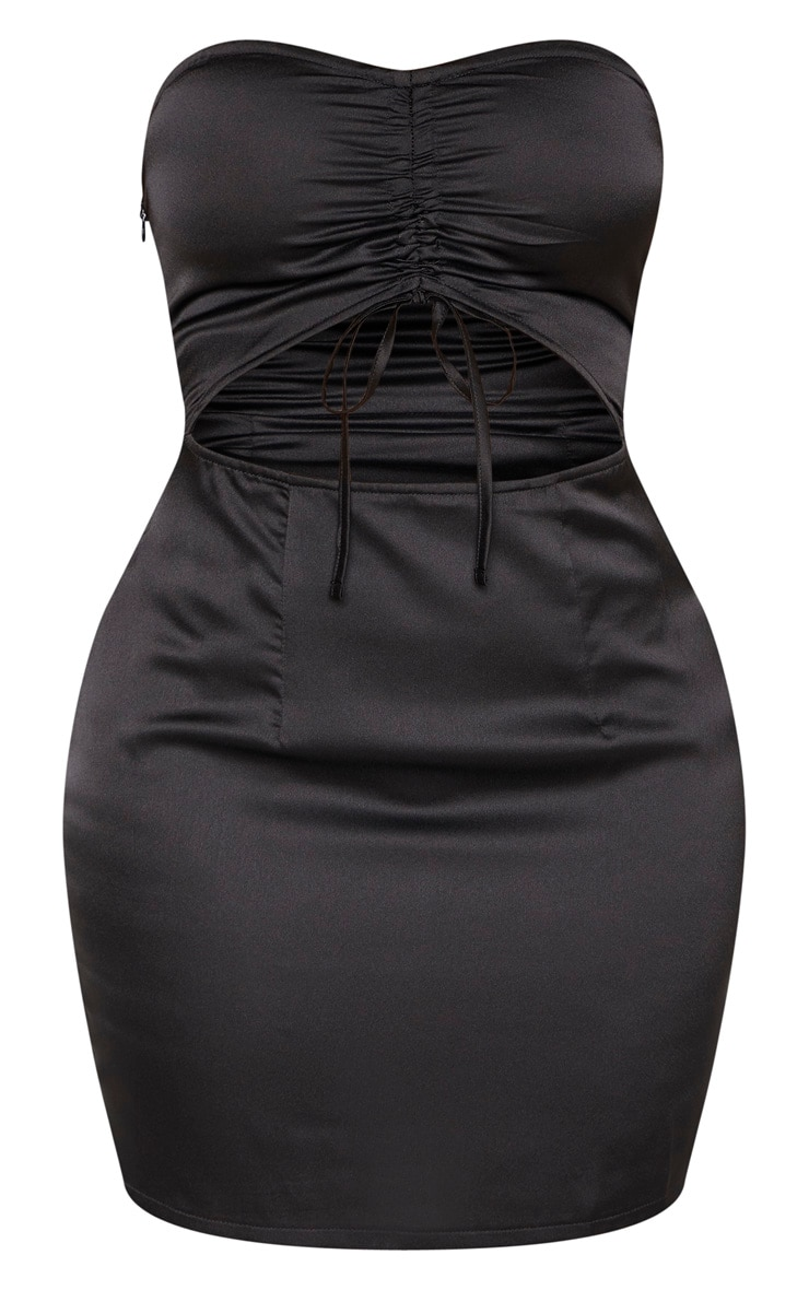 Shape Black Cut Out Ruched Bust Bodycon Dress 3