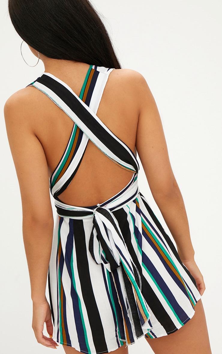 Stripe Tie Back Romper 5