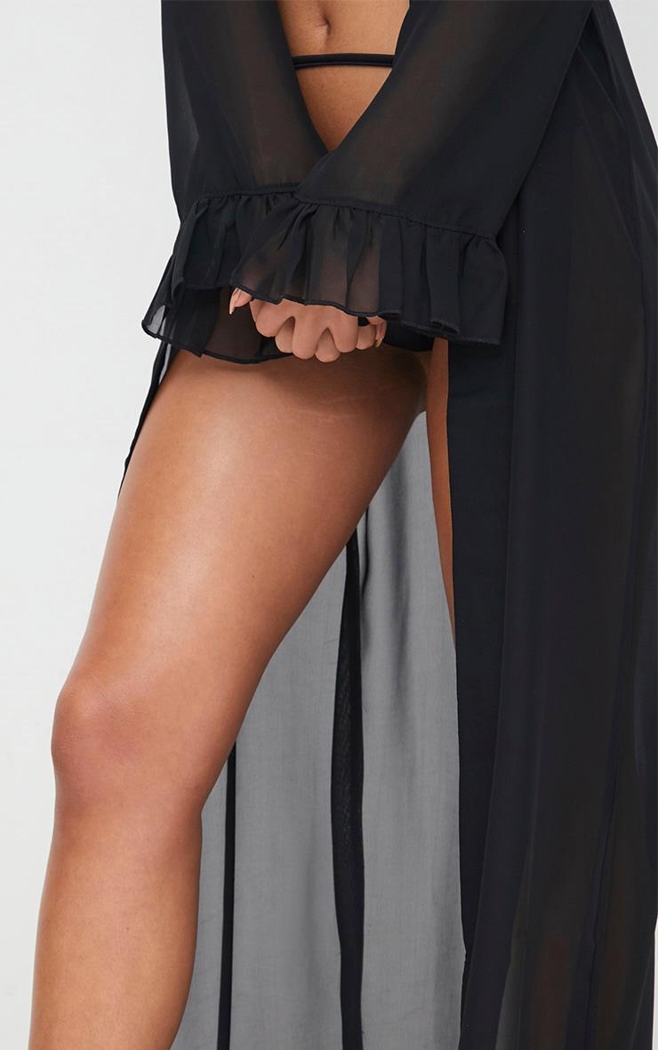 Alassia Black Frill Sleeve Kimono 5