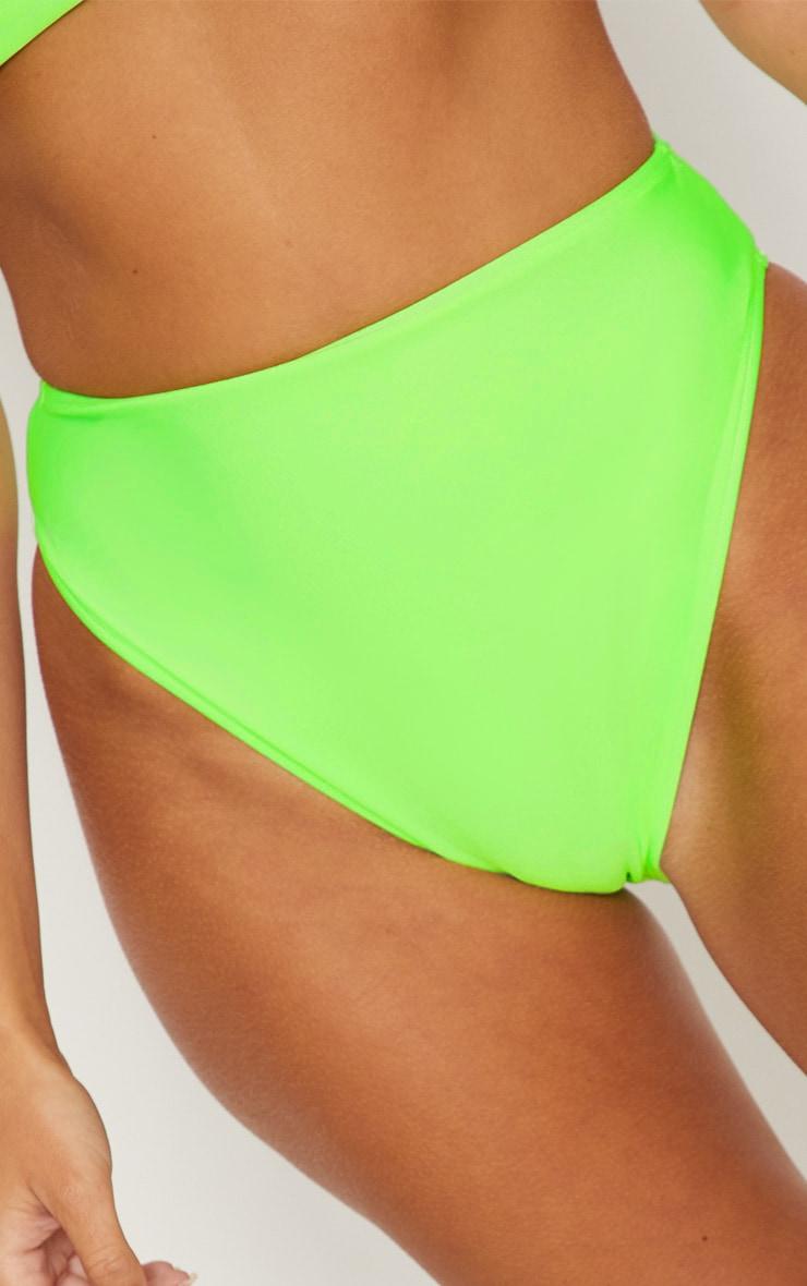 Lime Mix & Match High Waisted High Leg Bikini Bottom 5