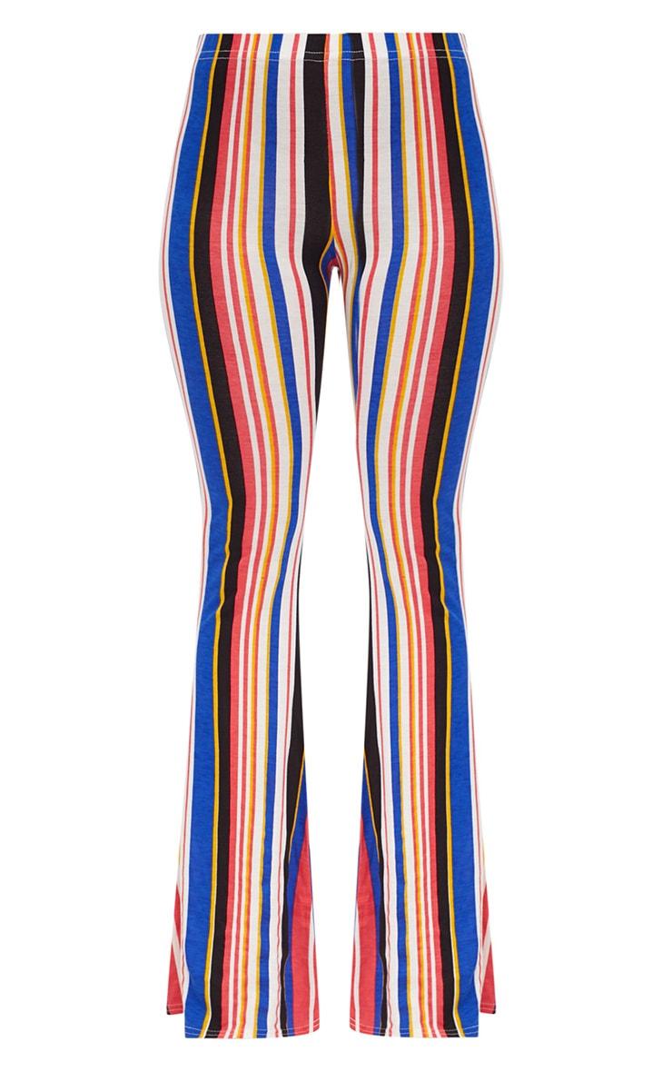 Multi Jersey Stripe Flared Trousers 3