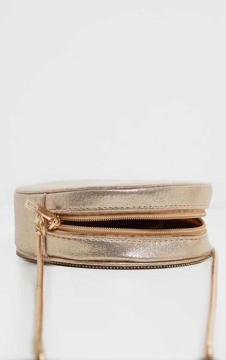Rose Gold All Over Diamante Cross Body Bag 3