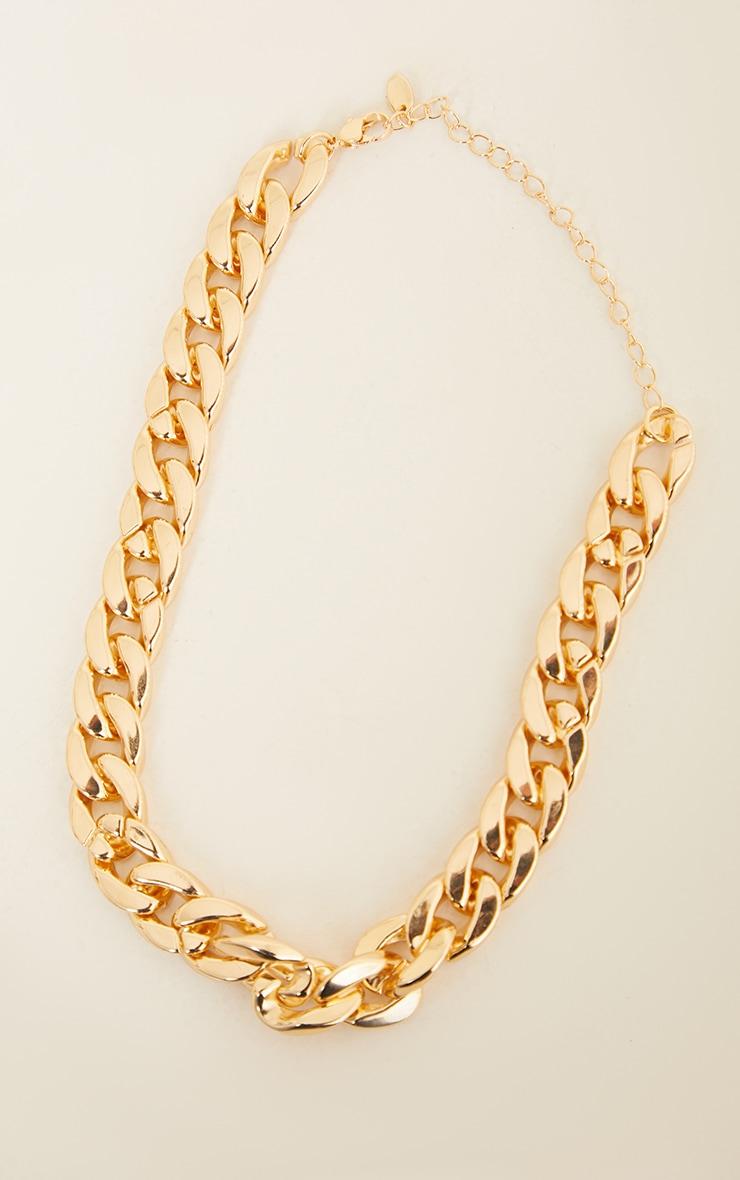 Gold Thick Chain Choker 3