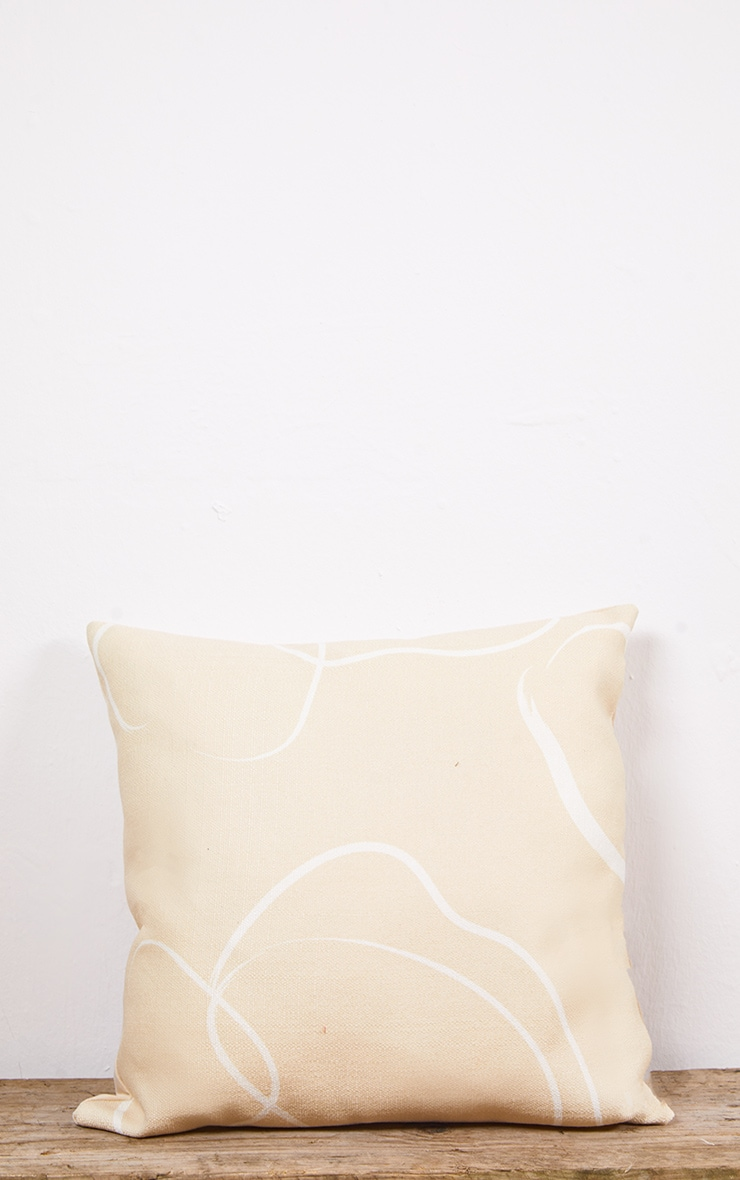 Abstract Bubble Print Filled Cushion 3