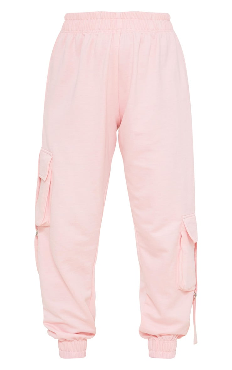 Petite Baby Pink Cargo Casual Jogger 5