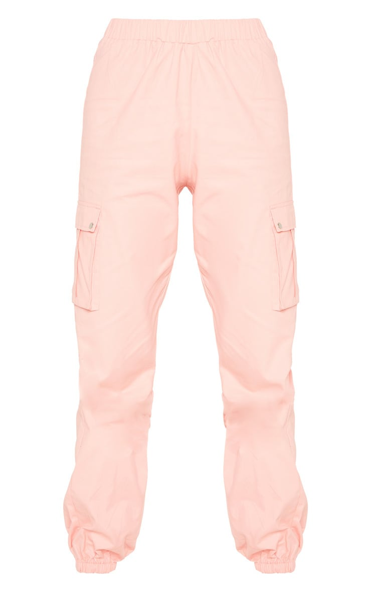 Tall Pink Pocket Detail Cargo Trousers 3