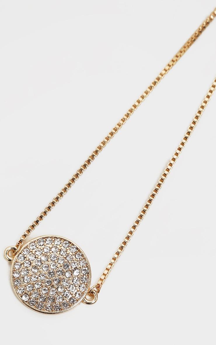 Gold Pave Diamante Friendship Bracelet 4