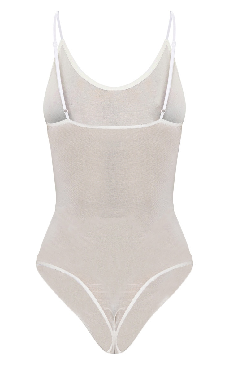 White Lace Middle Mesh Body 4