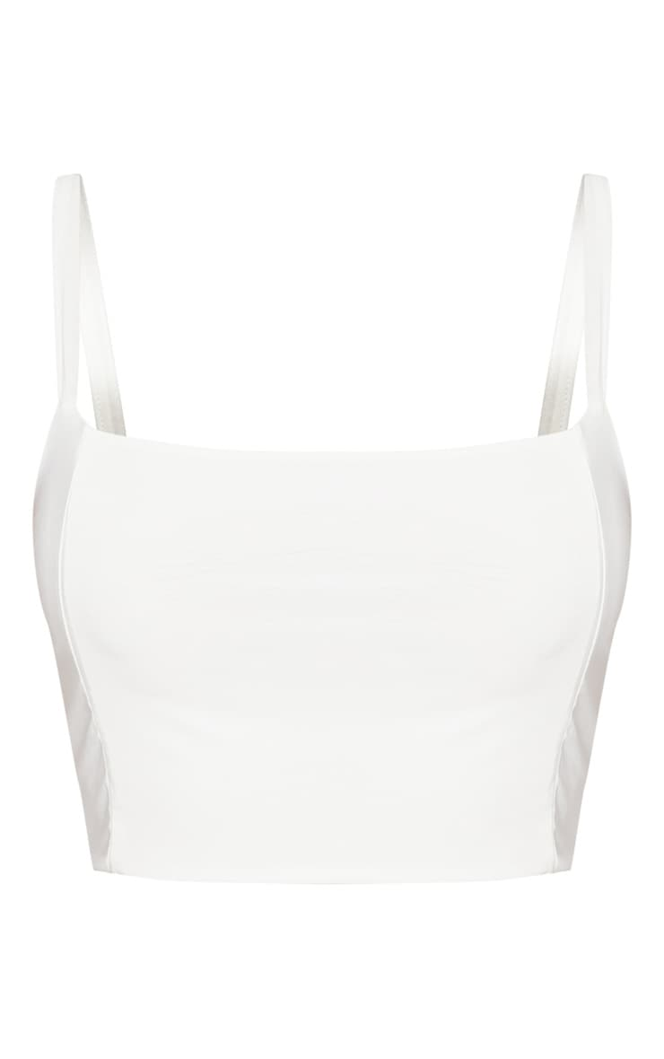 Shape Ivory Slinky Panelled Crop Top 3