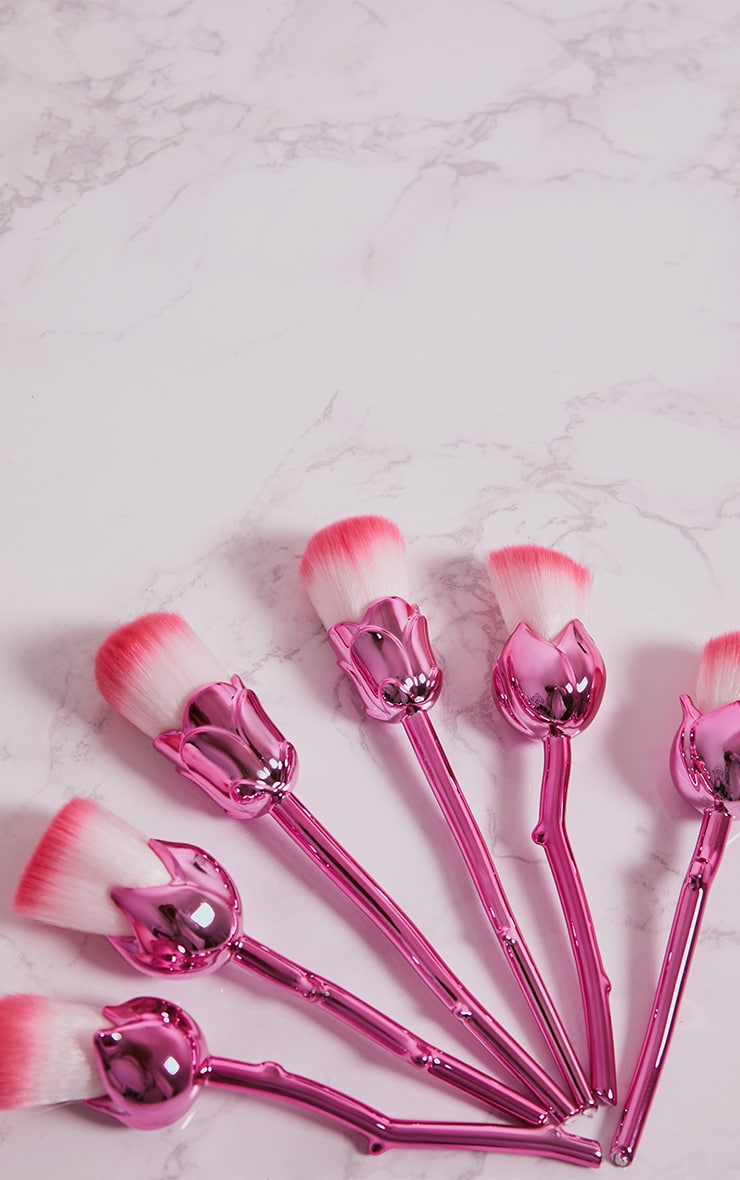 Pink Rose Contour Make Up Brushes Set 2