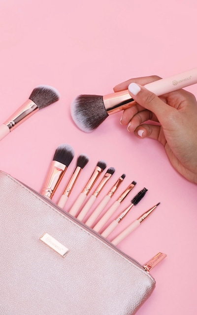 BH Cosmetics Pretty in Pink 10 Piece Brush Set with Bag