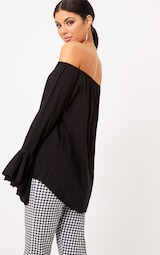 9b92af88590aa Yadira Black Bardot Flute Sleeve Shirt image 2
