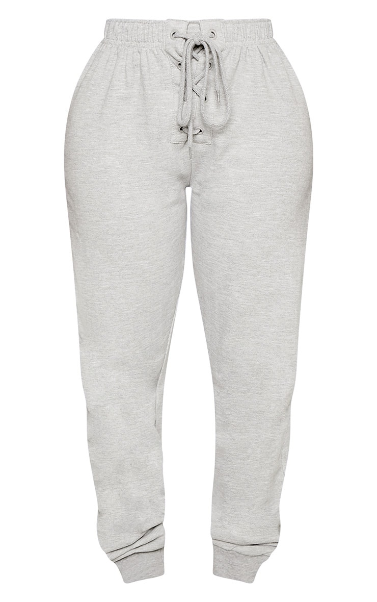 Shape Grey Lace Up Detail Sweat Trackpants 3
