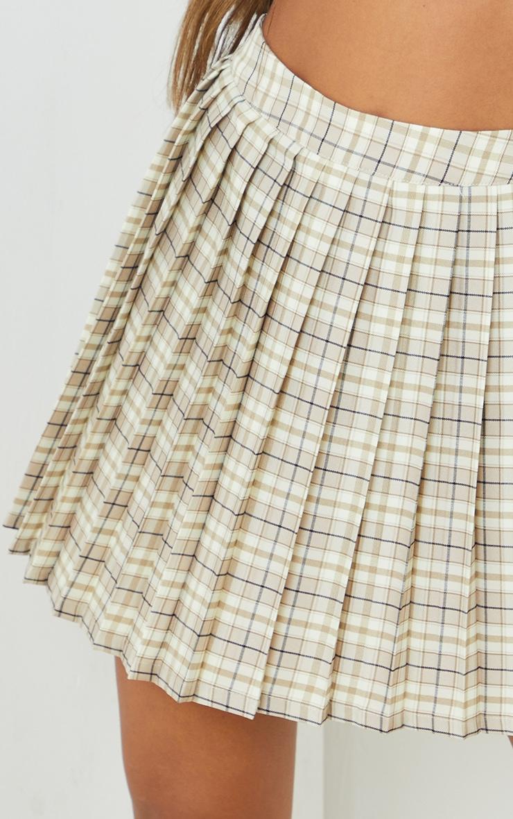Stone Woven Check Tennis Skirt 5