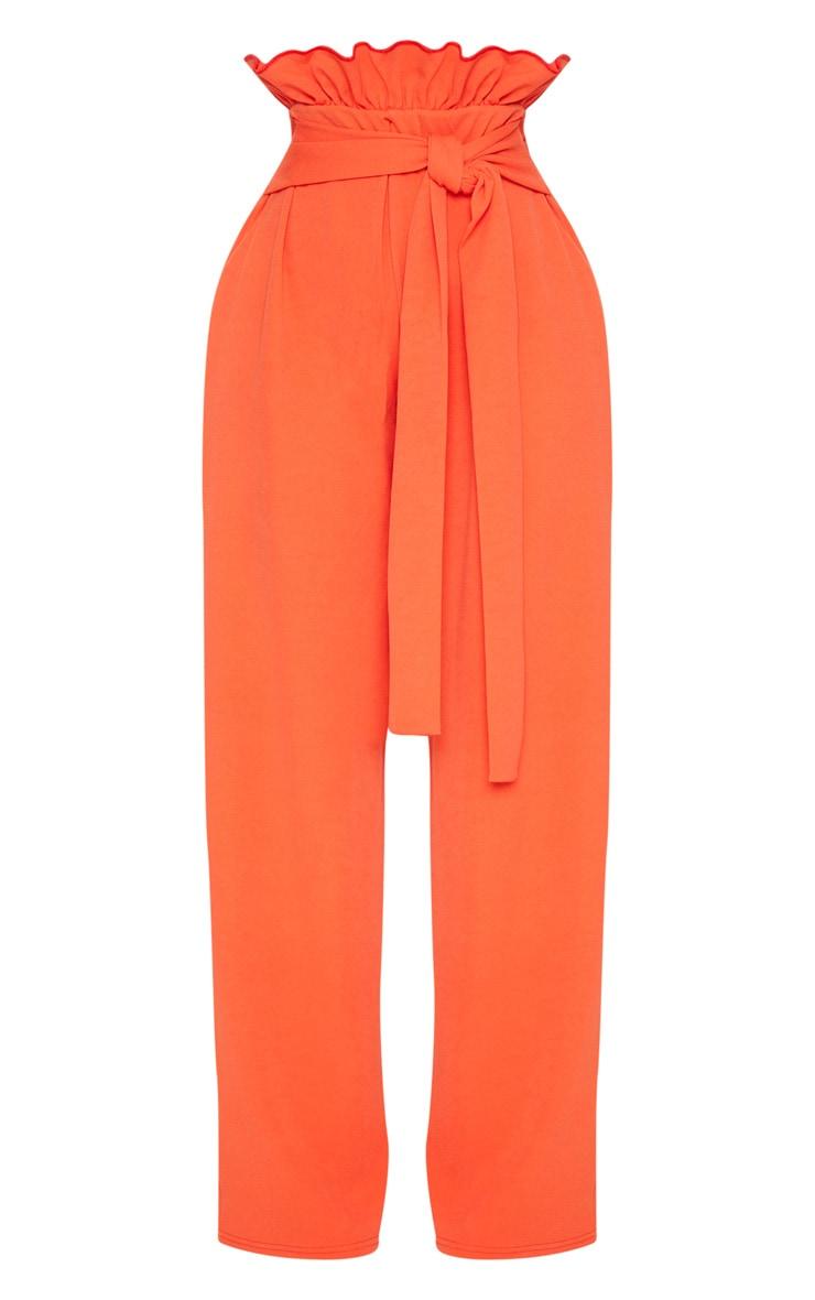Shape Orange High Waist Paperbag Wide Leg Trousers 3