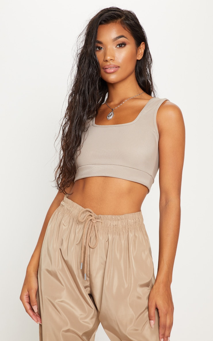 Stone Textured Crop Top