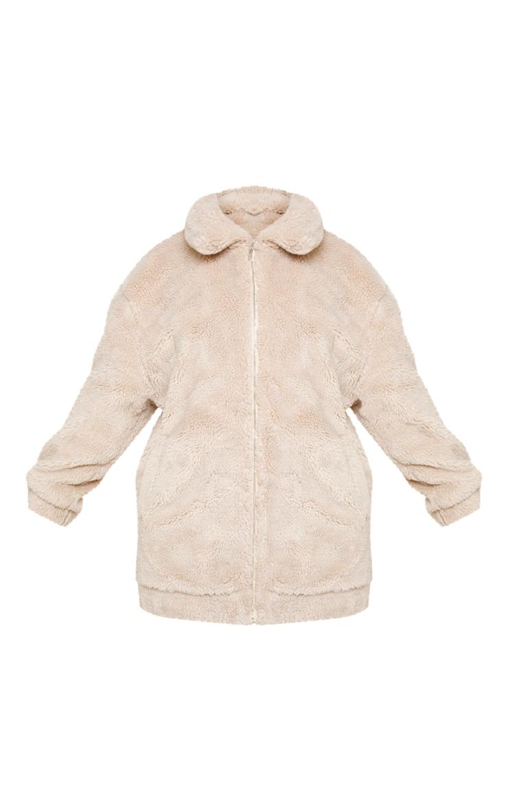 Plus Stone Teddy Bomber Coat 3