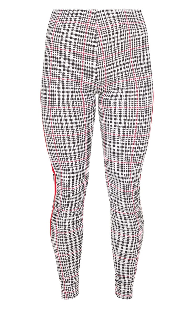 White Check Sport Stripe Legging 3