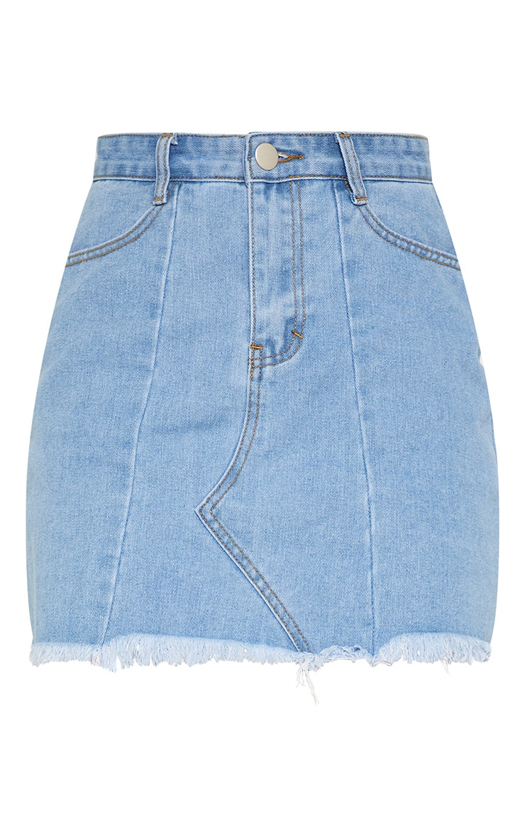Light Wash Basic Denim Skirt  3