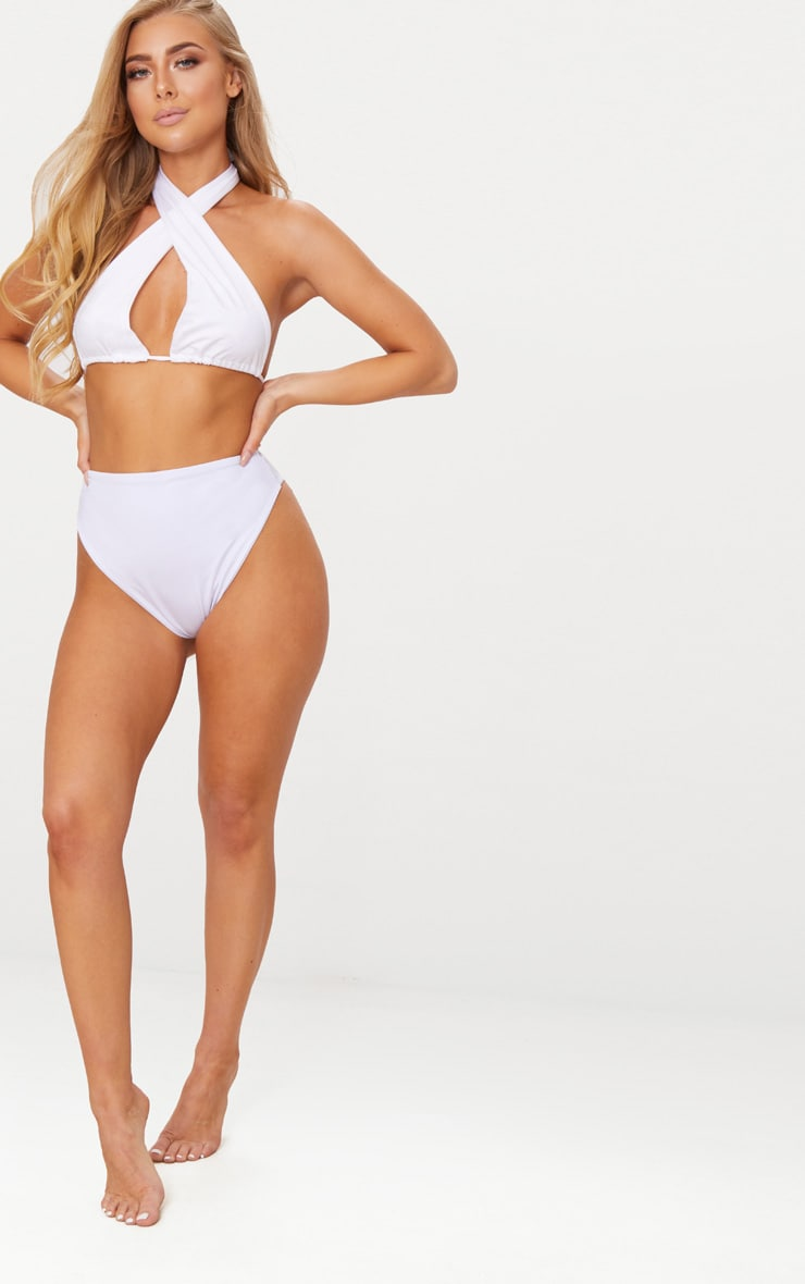 White Mix & Match Multi Way Bikini Top 6
