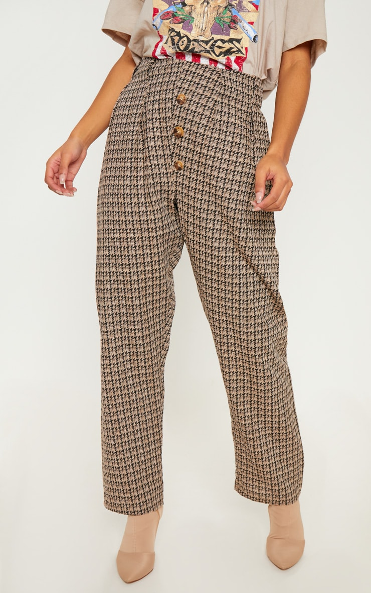 Stone Tweed Button Front Cigarette Pants 2