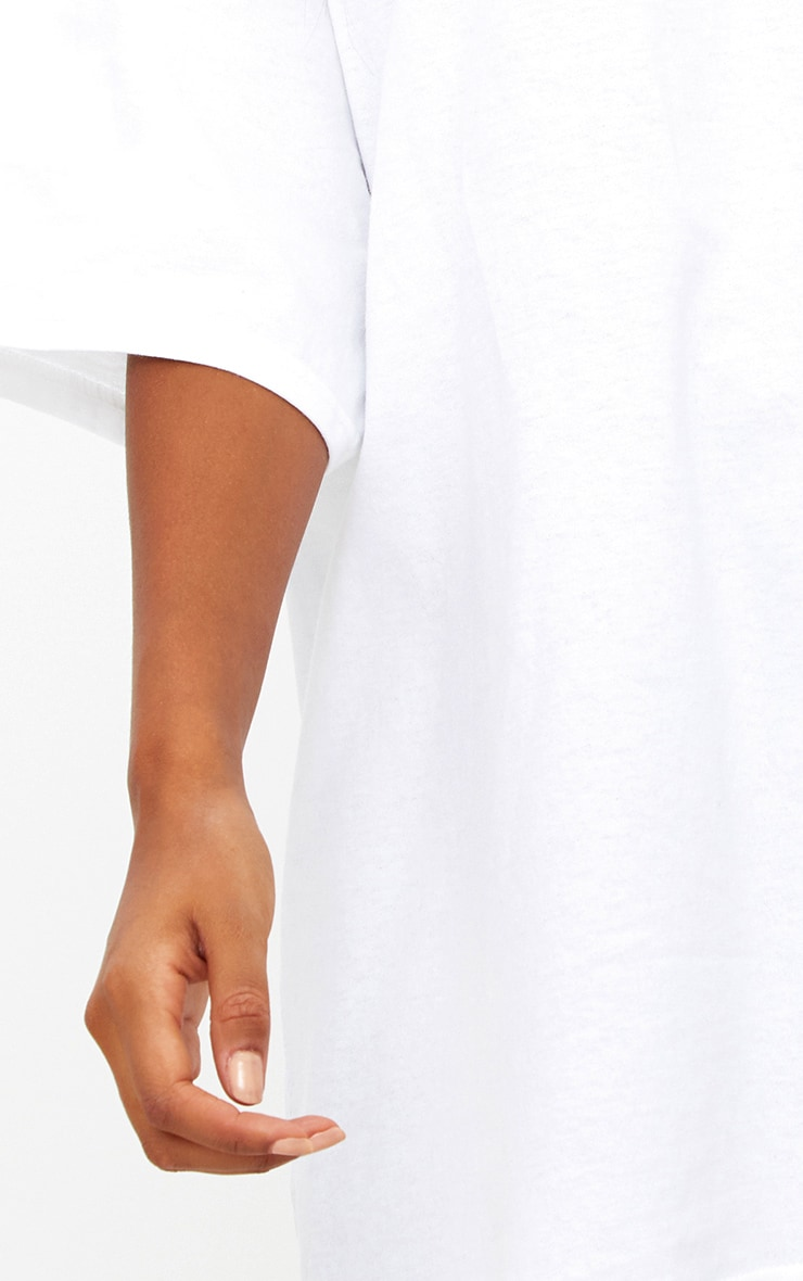 White Oversized Boyfriend T Shirt 5