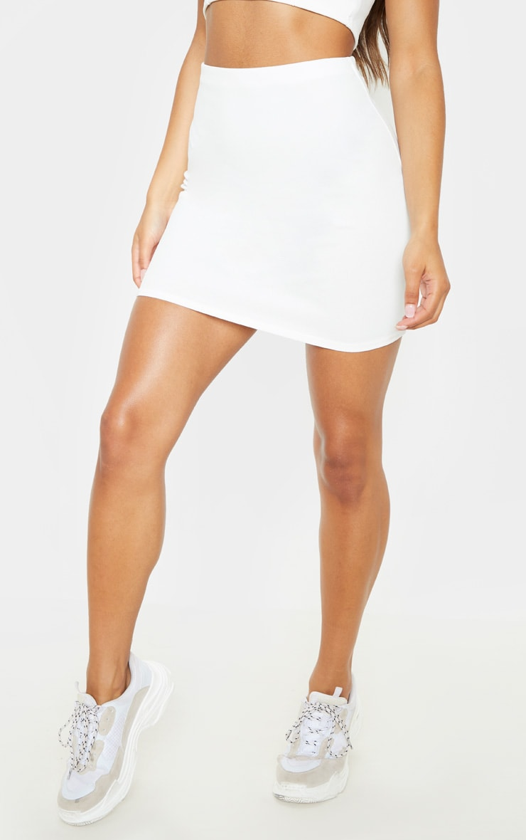 White Mini Suit Skirt 2