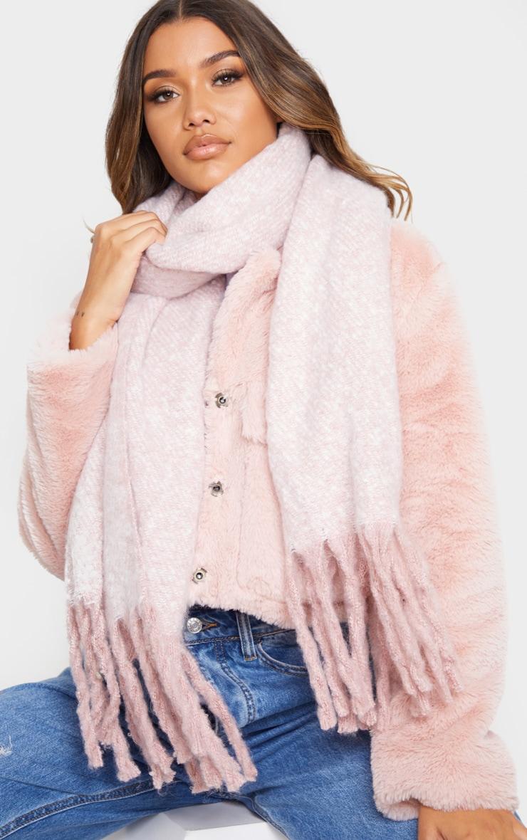Pink Super Soft Mini Blanket Scarf 1