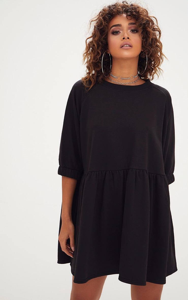 Black Smock Sweater Dress 1