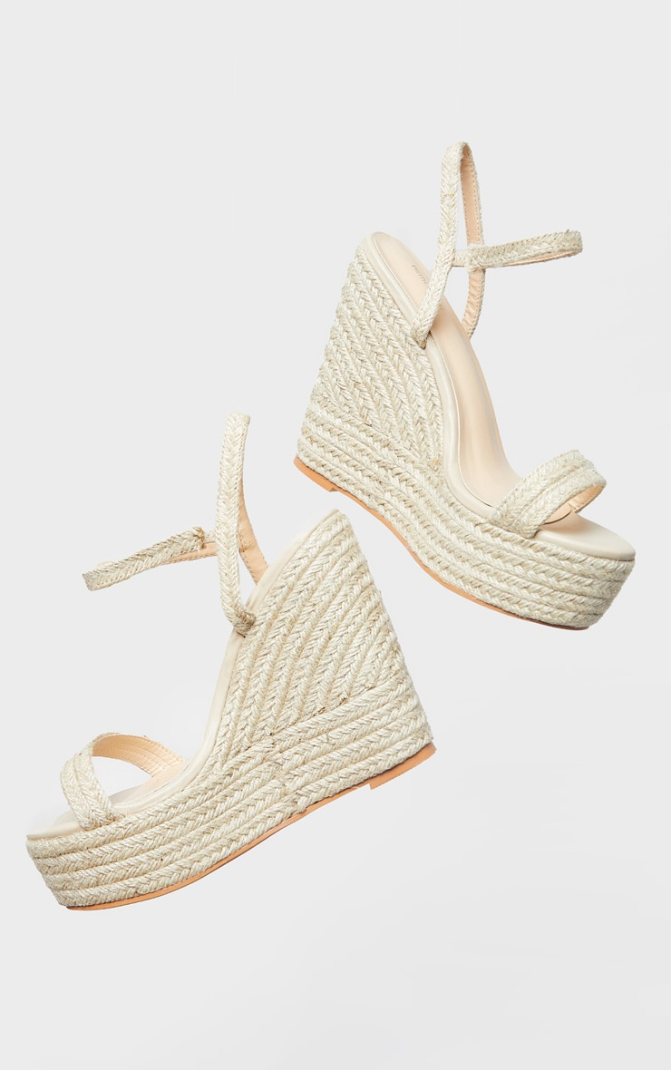 Natural Espadrille Wedges 4