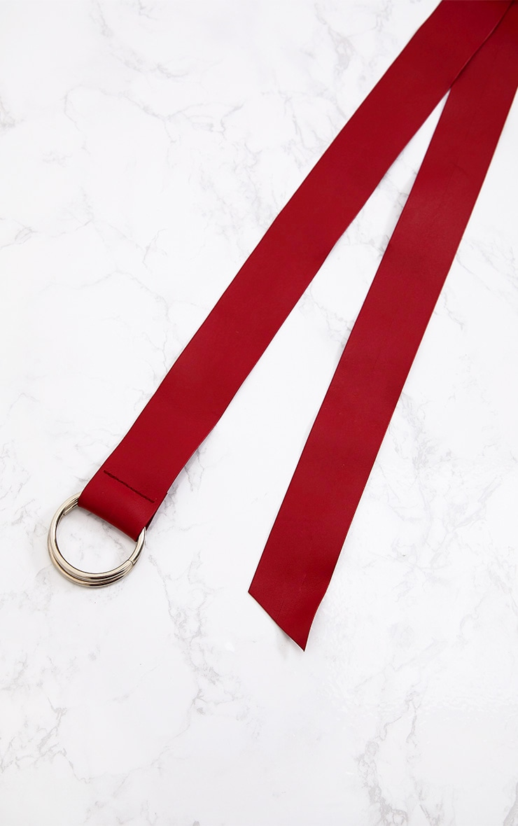 Burgundy Ring Wrap Waist Belt 4