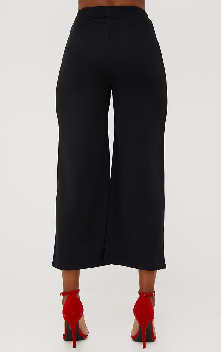 Black Ring Zip Culottes 4