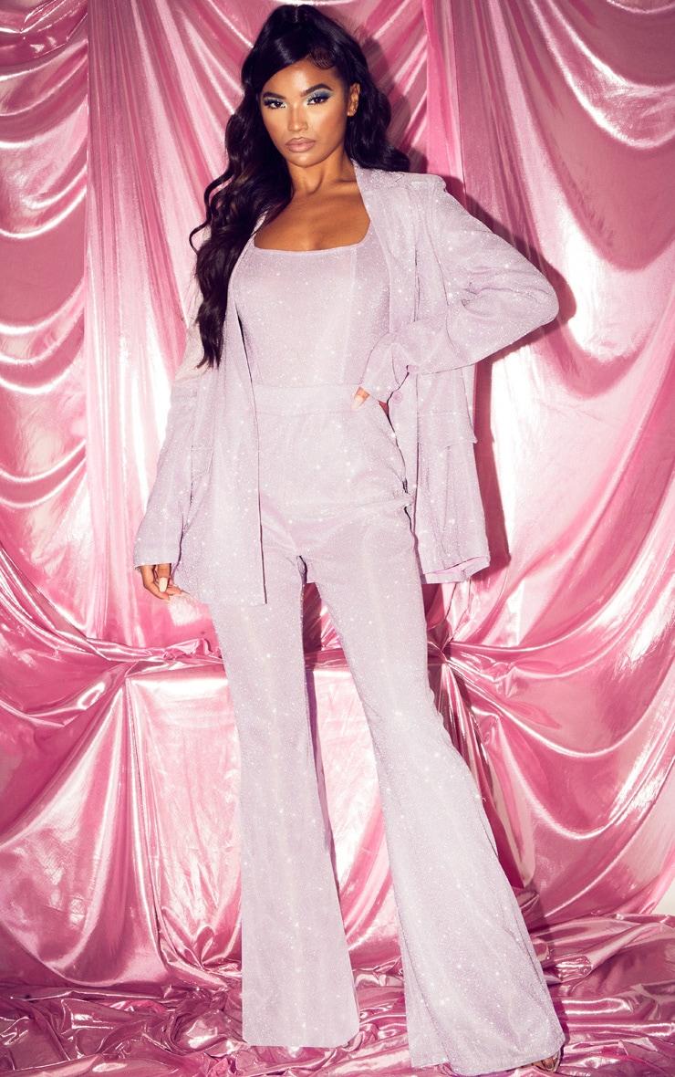 Pink Glitter Panelled Bodysuit 5