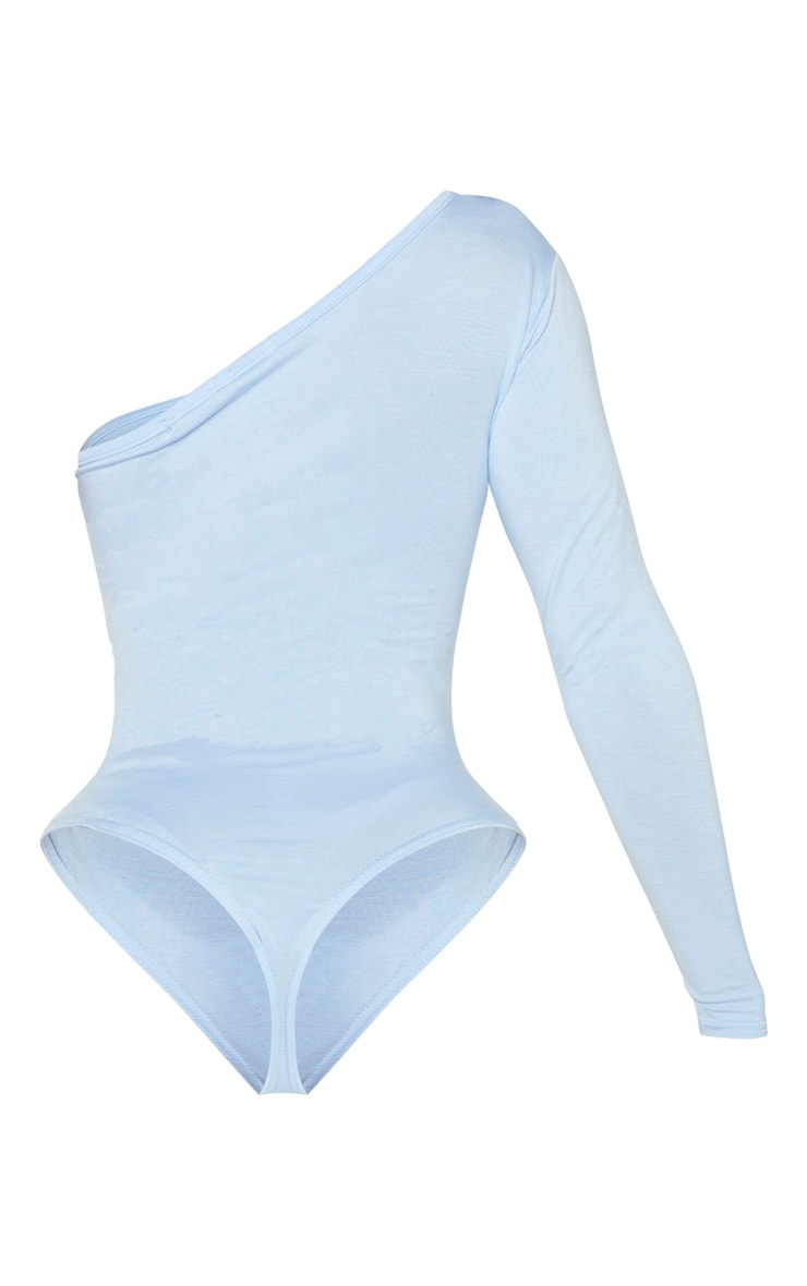 Shape Dusty Blue Jersey One Shoulder Bodysuit 4