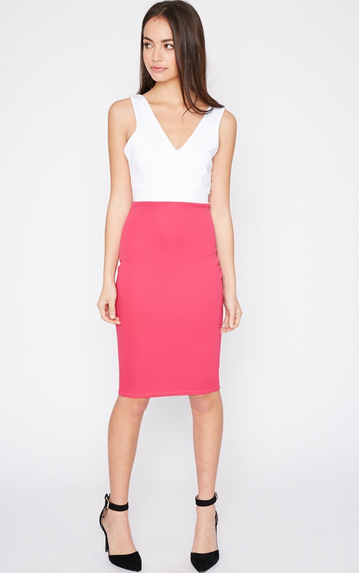 Adella Pink Bodycon Panel Dress 3