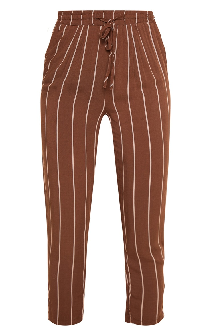 Chocolate Pinstripe Casual Trouser 3