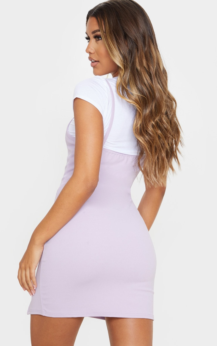 Lilac 2 In 1 Strappy Split Front Shift Dress 2