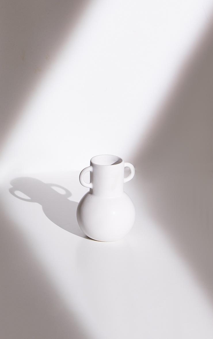 White Small Amphora Vase 4