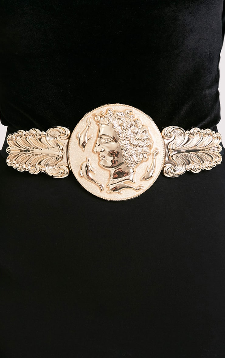 Alexius Gold Oversized Coin Detail Belt 2